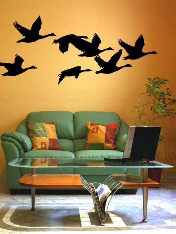 Geese Decal Flying Geese Bird Wall Decal Woodland Nursery