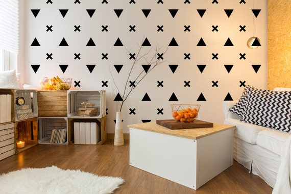 Triangle Wall Decal Urban Wall Decor Triangle Decals ...