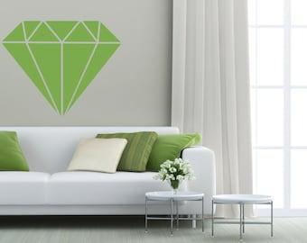 Diamond Decal, Diamond Wall Decal, Diamond Decorations, Diamond Decor, Geometric Wall Decal, Wedding Wall Decor, Apartment Wall Decor