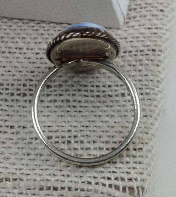 6 Painted glass ring