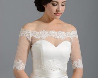 9278af6881c31a Alex Bridal Wedding bolero wedding jacket and wrap by alexbridal