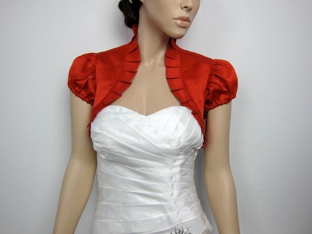 satin bolero, bolero jacket, wedding bolero, bridal bolero, bridal jacket, wedding jacket, satin bolero jacket, satin006 red
