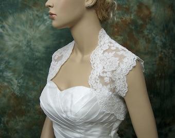 Lace bolero jacket wedding bolero wedding jacket wedding shrug ivory sleeveless bridal bolero bridal jacket bridal shrug alencon