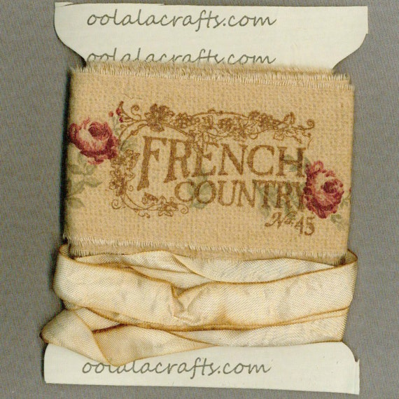 4 Yards FRENCH COUNTRY Trim Tea Dyed Seam Binding Ribbon