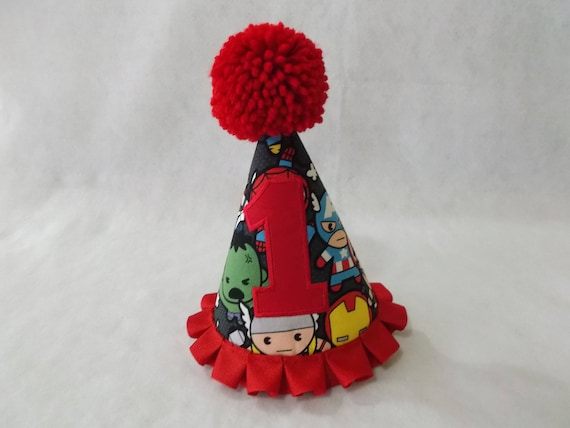 Superhero Party Hat 1st Or 2nd Birthday