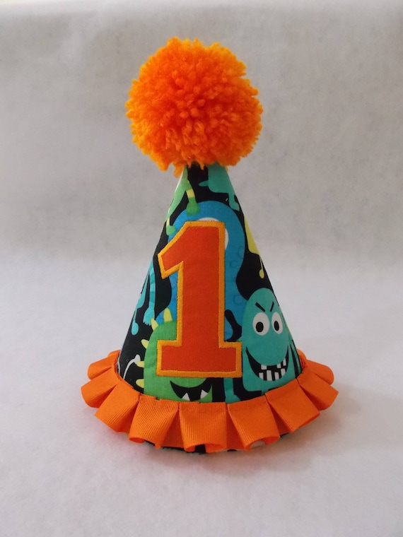 Monster Party Hat 1st Or 2nd Birthday Baby
