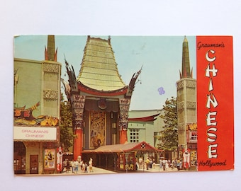 Vintage Grauman's Chinese Theatre Hollywood CA Postcard Posted 1972 Plastichrome