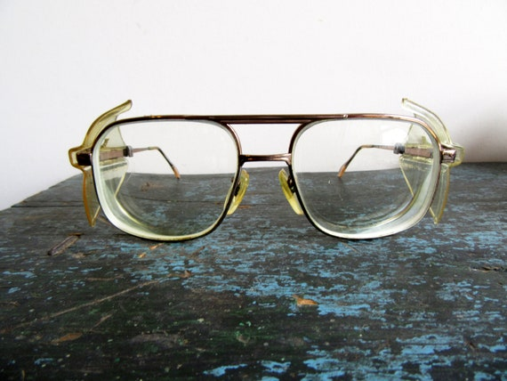 ea604c2cfbd Vintage Titmus Z87 Glasses with Safety Shields Titmus