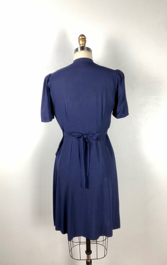 Vintage 1940s Color Block Dress Flirty Swing Dres… - image 5