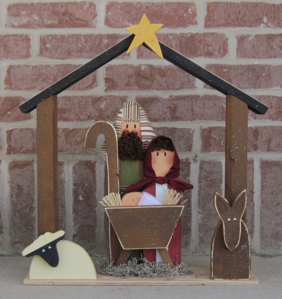 9b5a42cf4fc Natividad de madera grandes para Navidad vacaciones Noel