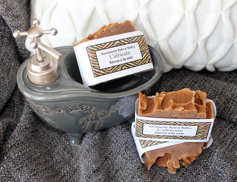 Savon à la soie l'Africain african black soap karité image 0