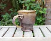 Large Wood Fired Swirl Mug