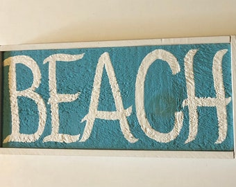 Beach Sign Hand Lettered