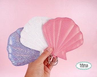 mermaid sea shell coin purse coin pouch zipper pouch change purse