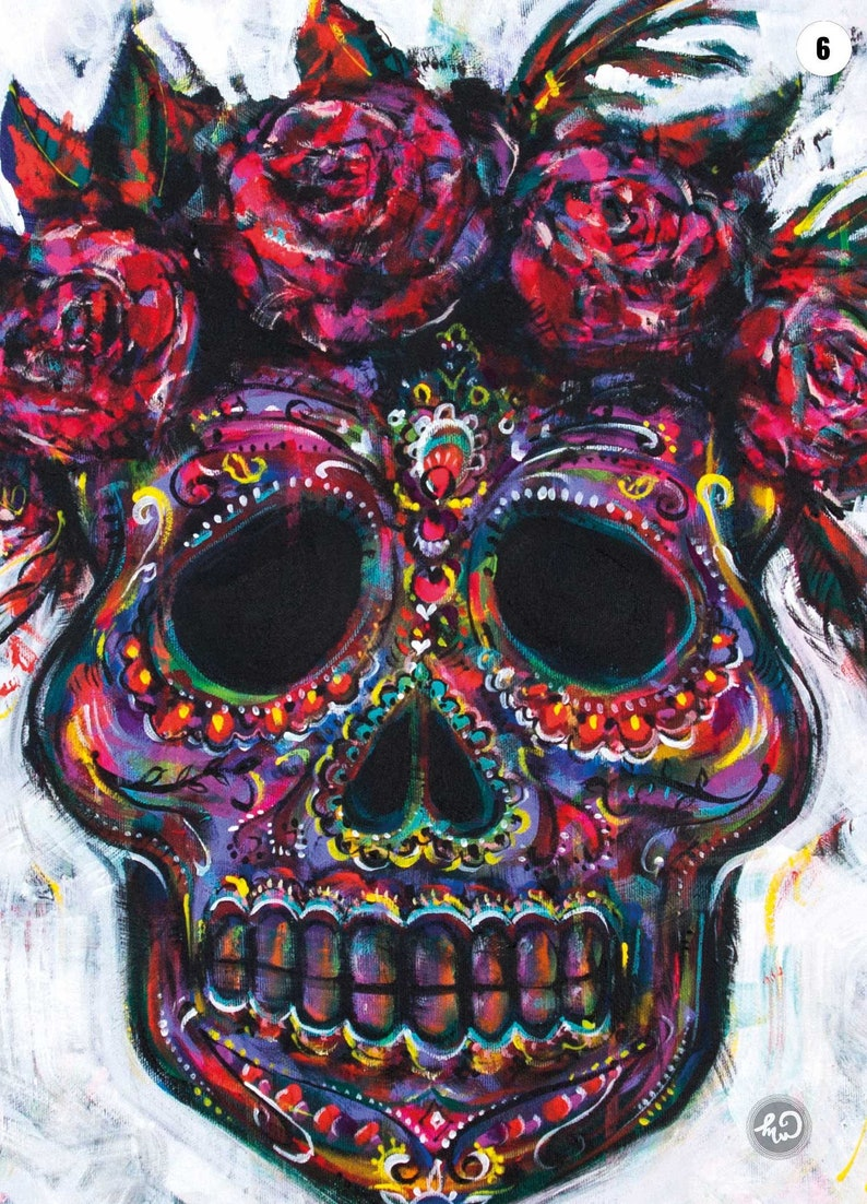 Postcard of Melissa Wilcox/'s original art Sugar Skull