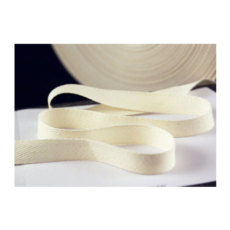 USA Made 3//8 Natural Cotton Twill Tape Multiple Widths Available Light Weight - 72 Yards