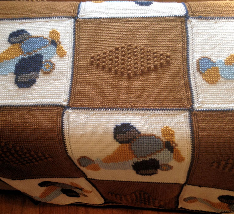 Crochet Baby Blanket Baby Blanket Crochet Airplane Baby Etsy