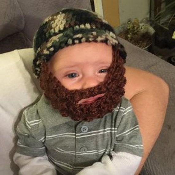 Beard Hat Baby Beard Hat Beard Baby Hat Hat with Beard  2b27262dad8