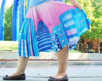Shoujo City Midi Skirt With POCKETS   Sailor Moon Magical Girl Pastel Harajuku Fashion   One Size and Plus Size