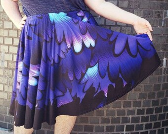 Raven Wings Midi Skirt With POCKETS   Raven Queen Mother of Ravens Howl's Moving Castle Goth Streetwear   One Size and Plus Size