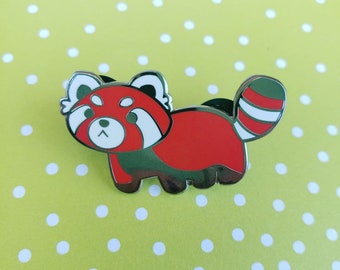 Red Panda Hard Enamel Pin   Cute Animal Hat Pin   Pabu Lapel Pin   Firefox Fire Ferret Pin
