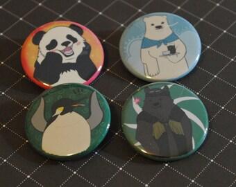 Shirokuma Cafe Button Set
