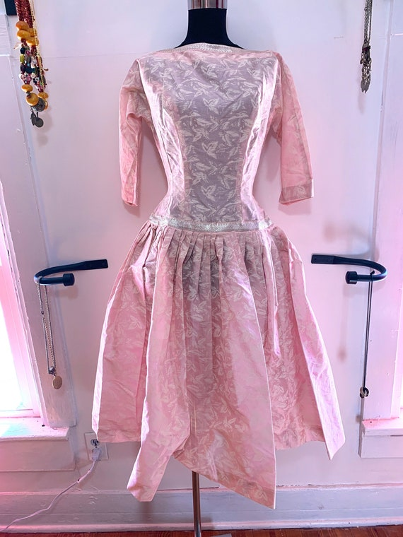 Sale was 65 Vintage 60s Pink Party Dress SZ 6 by … - image 1