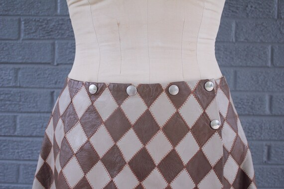 1960's Mod Carnaby Street Diamond Vest and Skirt … - image 2