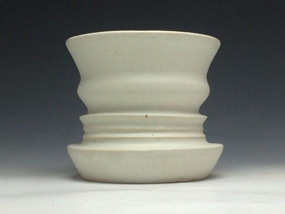 Op Art Vase Double Face Negative Space Profile Heads Ikebana Etsy
