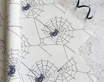 Spiderweb gift wrap Halloween themed  Wrapping paper, Creepy crawlies, Premium gift wrap