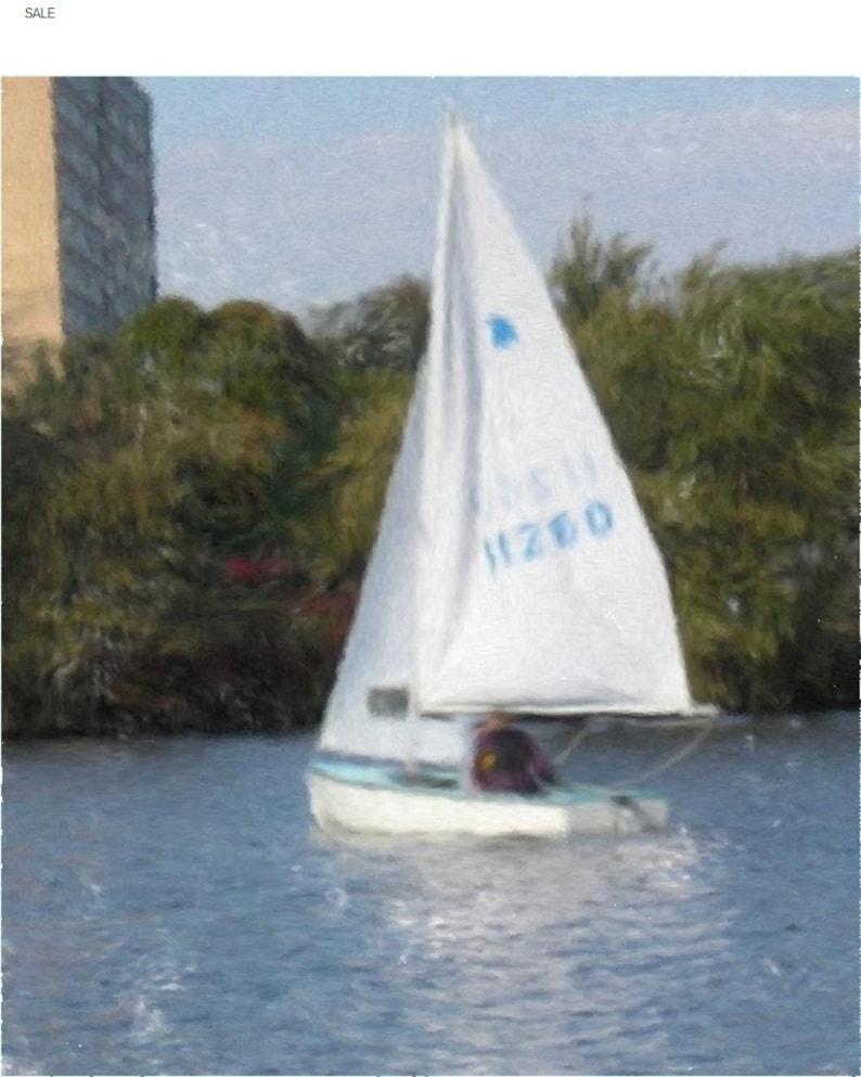 Painting of a Small Sailboat BO-3