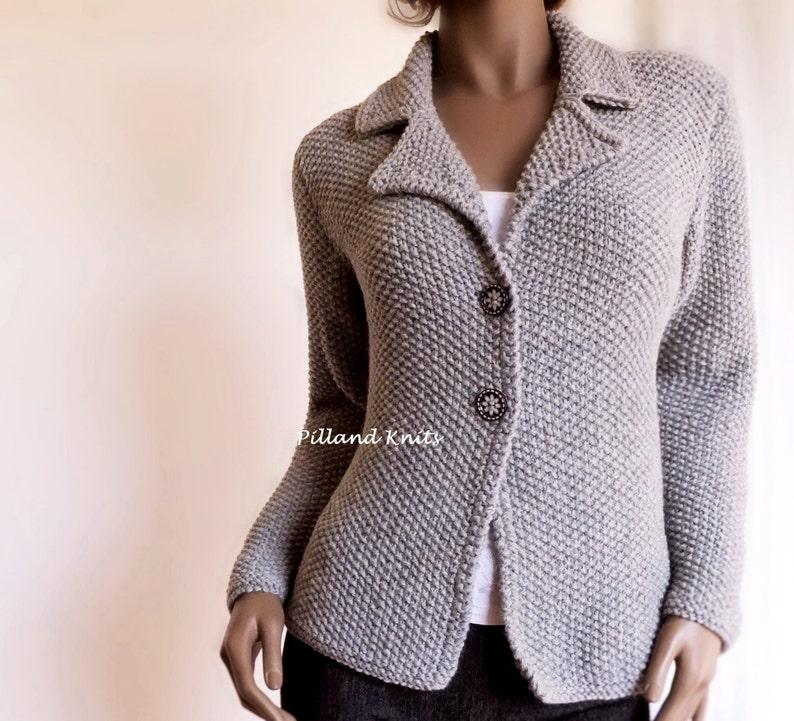 00a10d9bd Women s Hand knit Jacket Alpaca Wool sweater Hand Knit