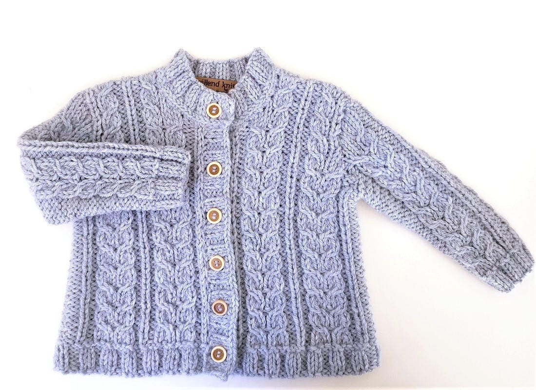 6ff1d0466 Baby Jacket Light Blue Children s cardigan Knit Cardigan