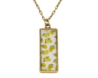 Summer Lemons Pendant Necklace