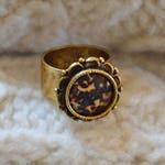 Tortoiseshell Ornate Ring, Antique Gold Ring, Ornate Ring, Tortoiseshell Ring, Tortoiseshell Jewelry, Ornate Jewelry, Tortoise Shell
