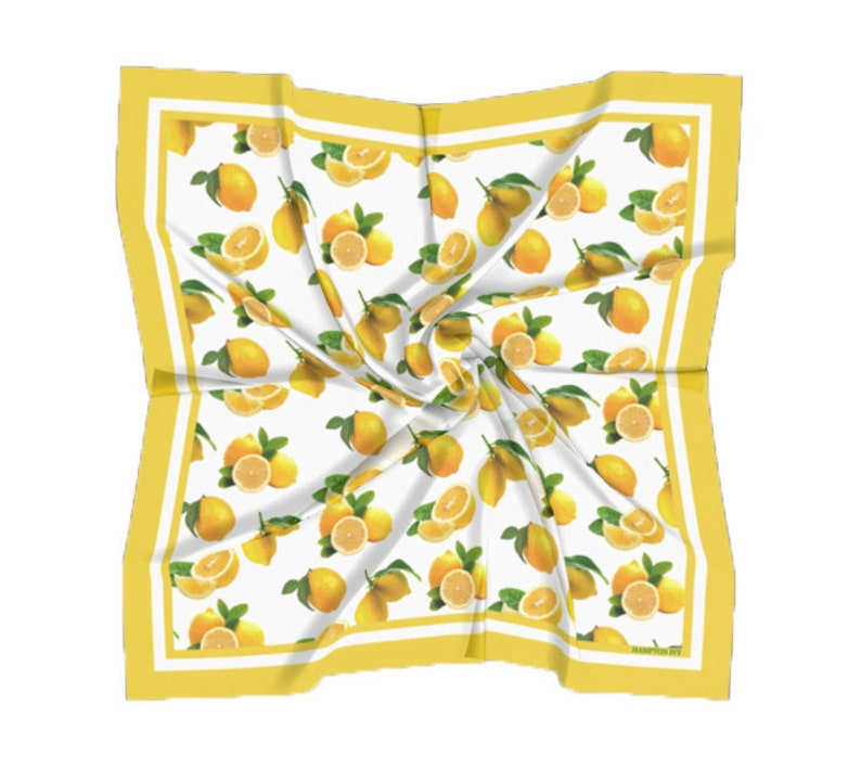 Lemon Scarf Satin Square Scarf image 0