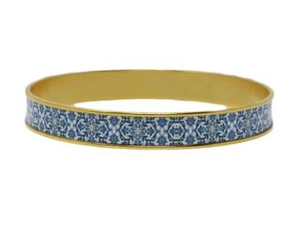Mediterranean Royal Blue Tile Bangle Bracelet