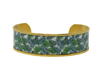 Palm Beach Palm Leaves Cuff Bracelet