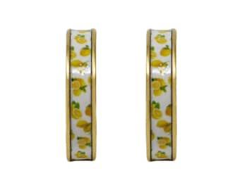 Summer Lemons Hoop Earrings