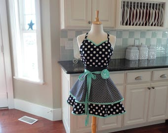 Sugar Cookies -Retro Modern Apron  ~ Cute Gift  Birthday Gift - Flirty Apron  - Personalized Aprons by 4RetroSisters  Pin Up Apron