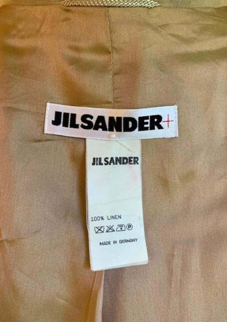 80s Jil Sander Slouchy Linen Duster Coat Neutral Tan Color Marvelous Minimal Design Best Fits US Women/'s Large-Extra Large