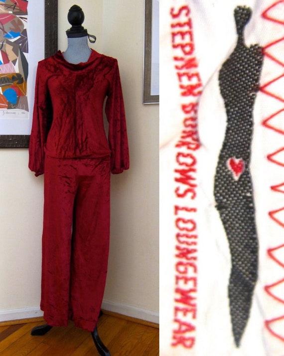 70s Stephen Burrows Loungewear Pants Set Iconic Bl