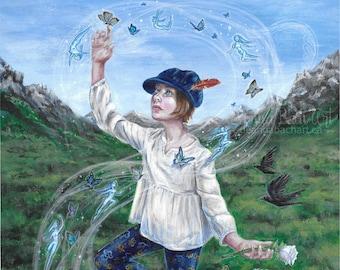 The Fool - tarot art print by Deanna Bach