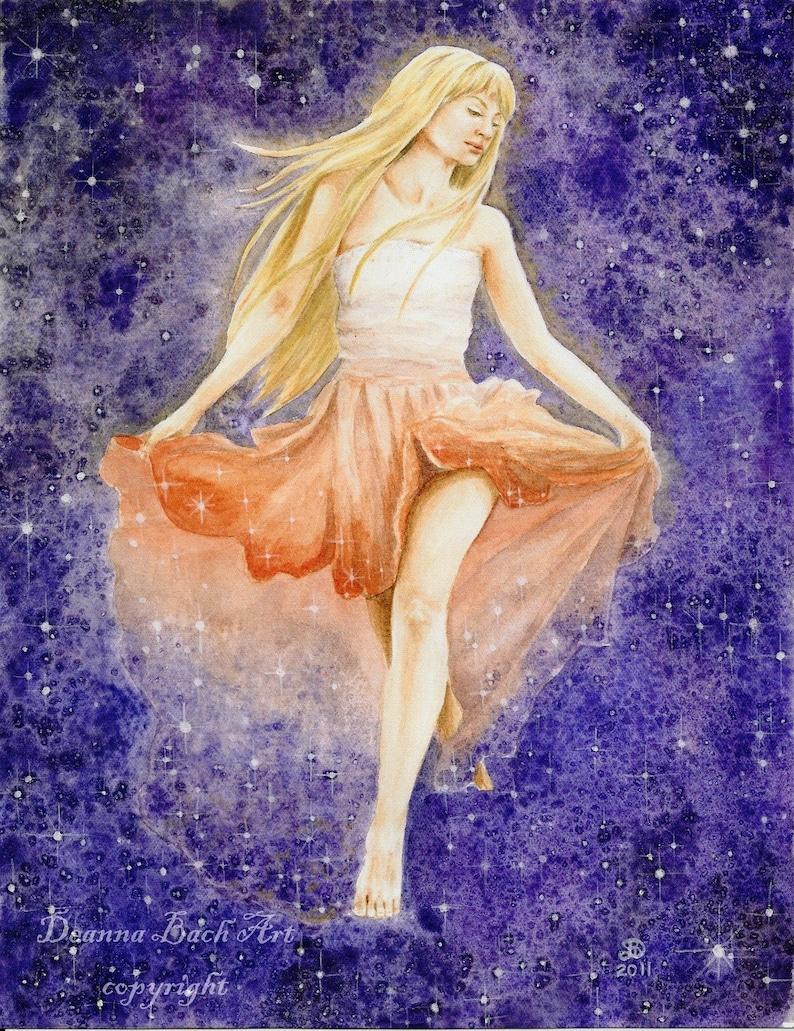 Stardancer  fairy fantasy gothic art by Deanna Bach image 0