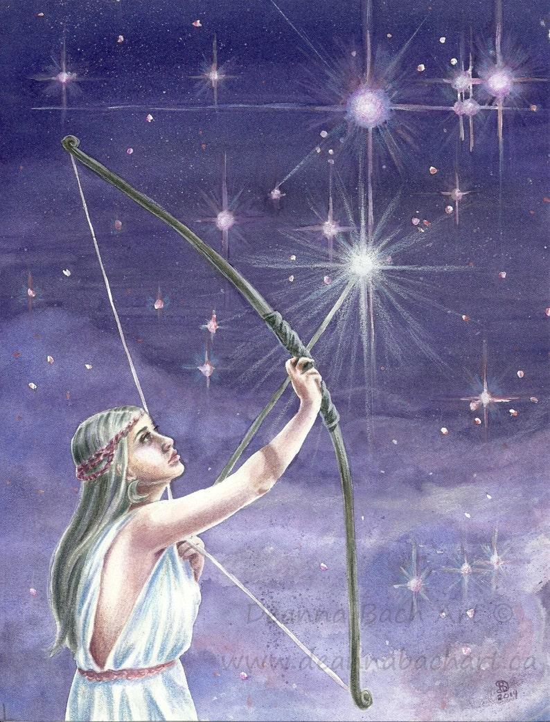 Shooting Stars  fantasy fairy gothic art by Deanna Bach Art image 1