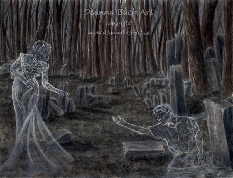 Spirited Away  fairy fantasy gothic art by Deanna Bach image 0