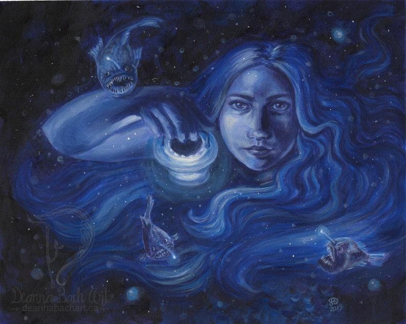 Lure  fantasy fairy gothic art print by Deanna Bach image 0