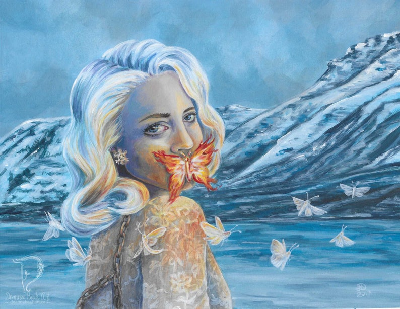 Unspoken  fantasy fairy gothic art print by Deanna Bach image 1