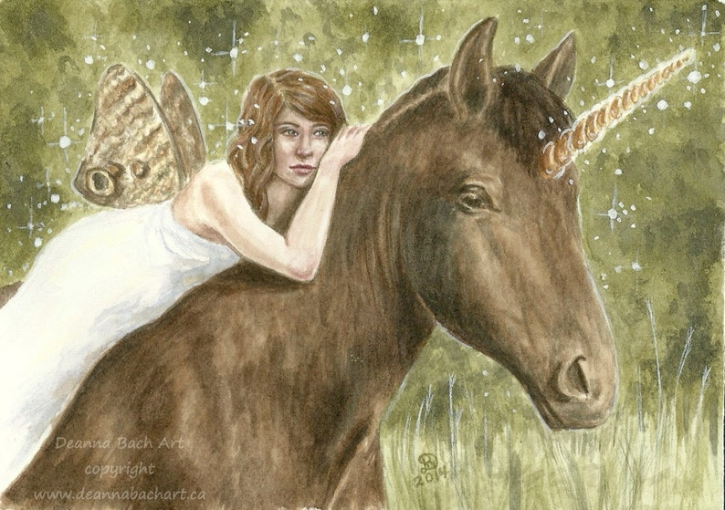 Friends Forever  fantasy fairy gothic art by Deanna Bach image 0