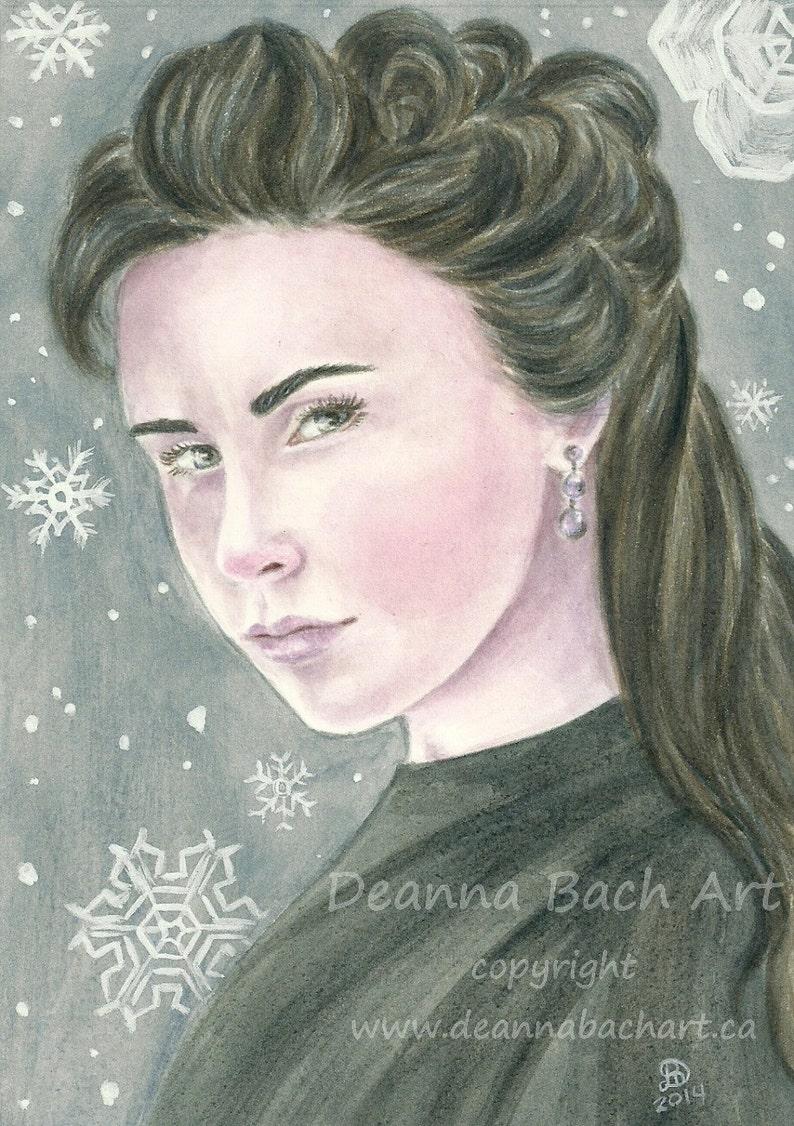 Snowflake  fantasy fairy gothic art by Deanna Bach image 0